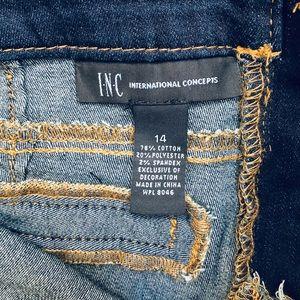 INC International Concepts Jeans - Inc Plus Size Jeans Size 14 Boho Flare